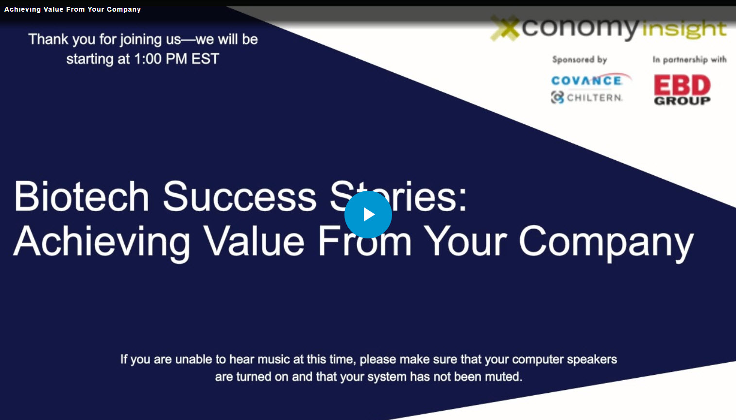 Achieving Value From Your Company
