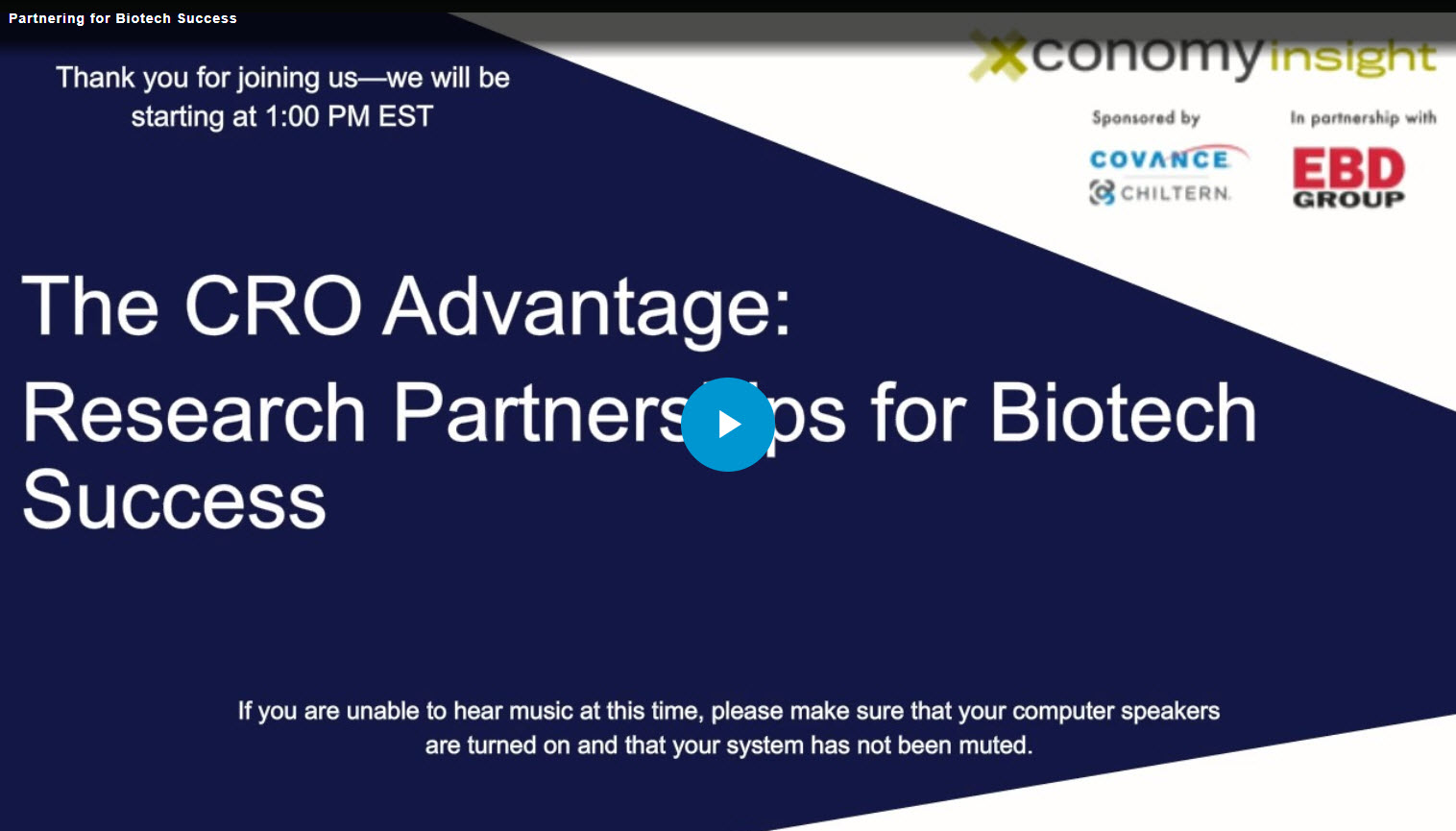 Partnering for Biotech Success